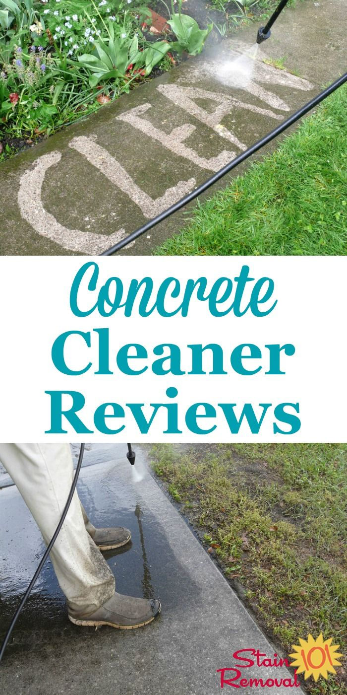 Concrete Cleaners And Concrete Stain Removers Reviews Concrete