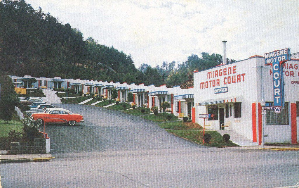 Miagene in Bryson City, NC -- a haven for Mom and Pops and quirky little motels. It's changed a lot now.