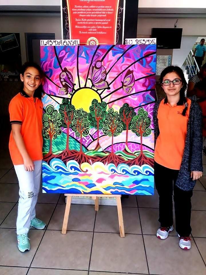 mdf üzerine guaj boya 7 sınıf görsel sanatlar dersi etlinliği