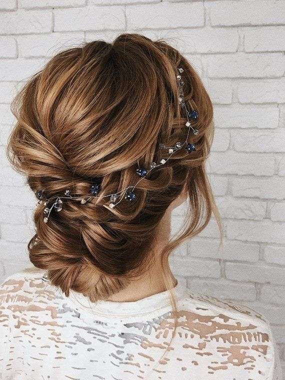 Celestial wedding hair piece Star hair vine Prom hair jewelry | Etsy