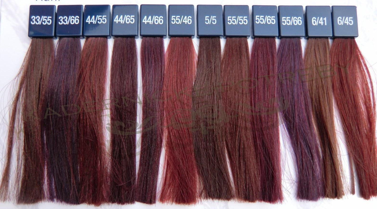 Wella Colour Touch Vibrant Reds Chart Google Search Hair