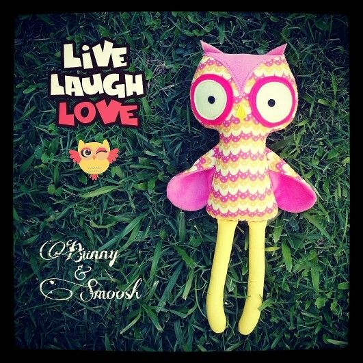 Cotton and minky little owl. So cute! Made by #Bunny&Smoosh