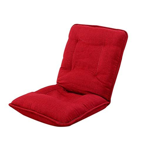 Tltllrsf Lazy Couch Tatami Cushion Folding Chair Bed Backrest Computer Sofa 6 Sd Adjustment Multi Color Selection Red