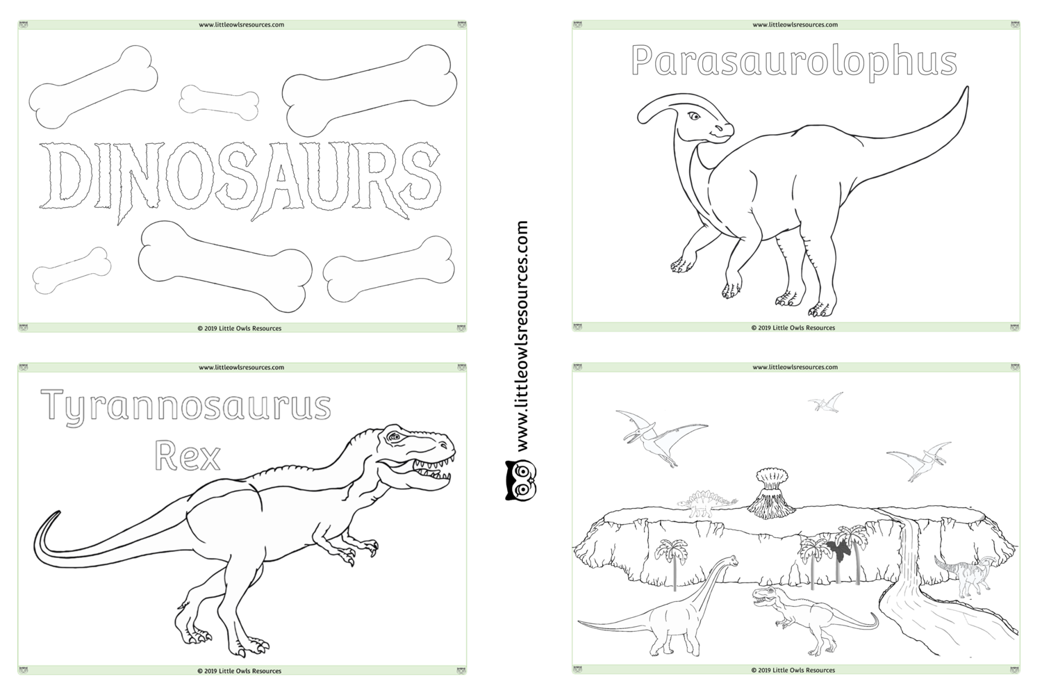 FREE Dinosaur Colouring printable Early Years/EY (EYFS ...