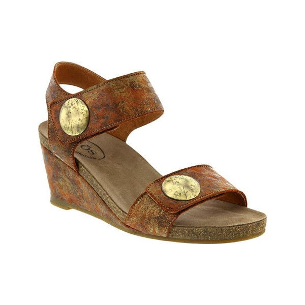 Women's Taos Footwear Carousel 2 Quarter Strap Wedge - Cinnamon Multi...  (9.860