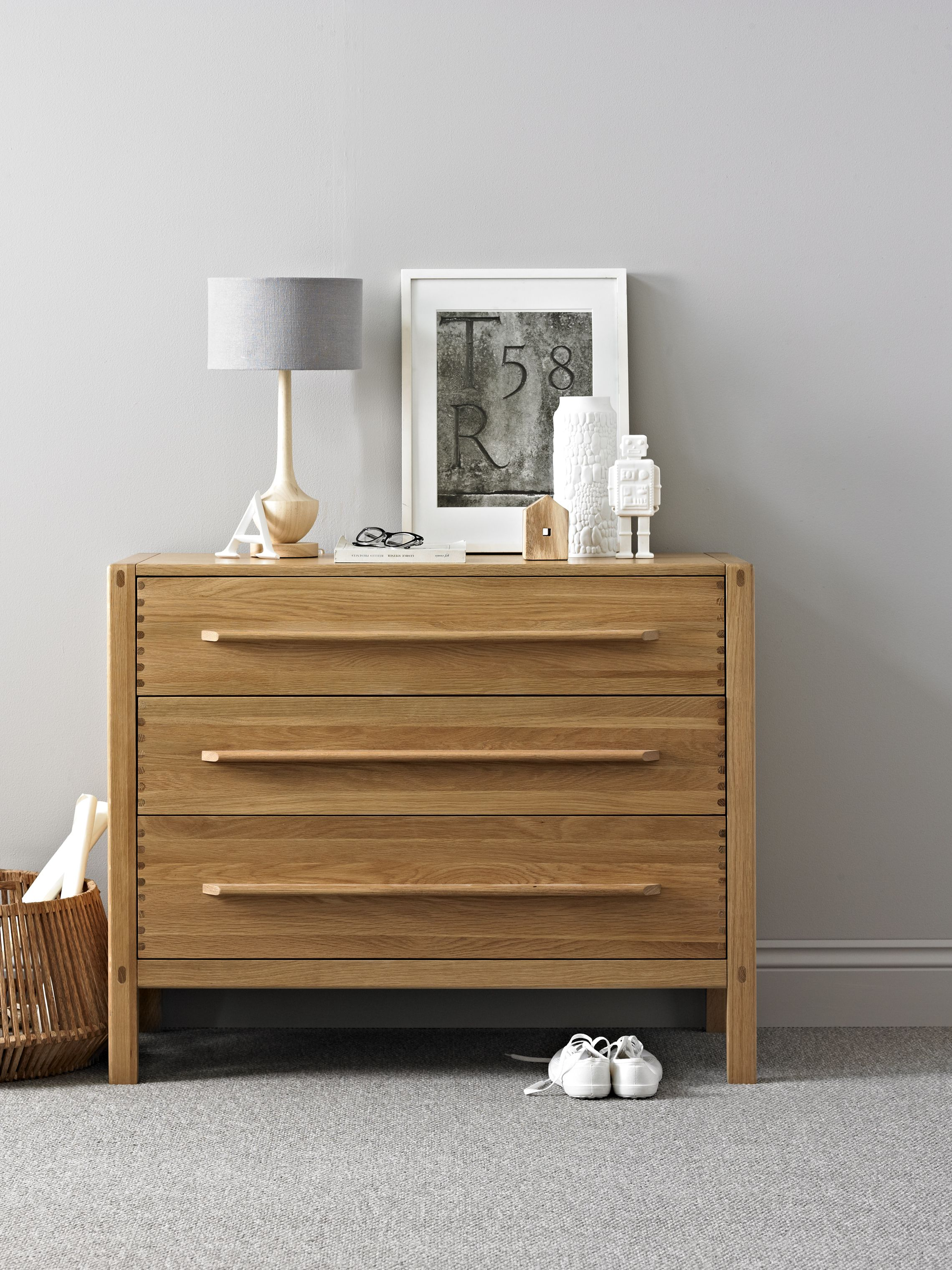Simple bed furniture design - Ercol Pimlico 3 Drawer Chest Simple And Contemporary Bedroom Furniture Inspired By Mid Century Modern