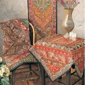 Marvelous Indian Table Cloth   Table Setting Ideas