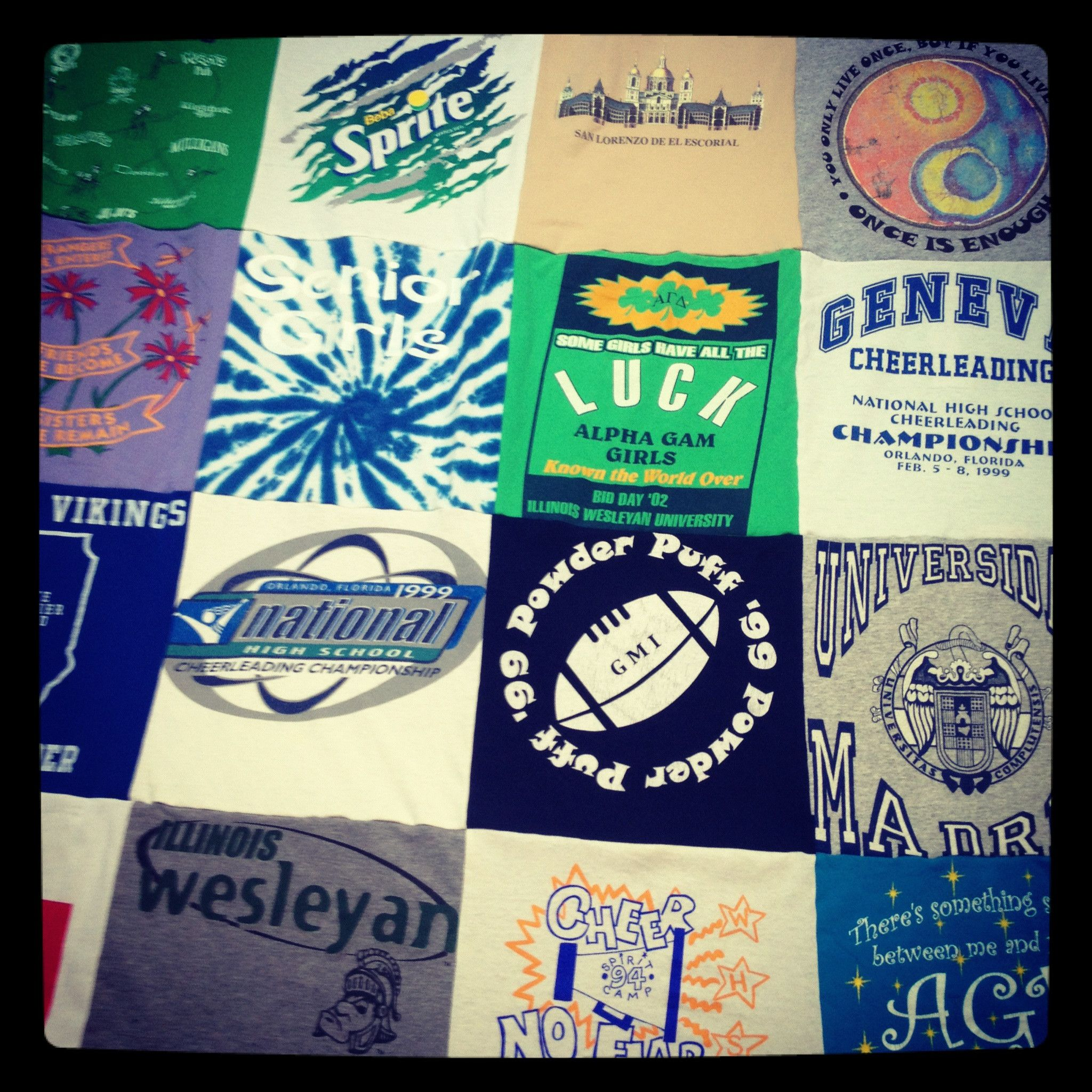 Double Sided T-Shirt Quilt | Quilt, Custom quilts and T shirts : repat quilts - Adamdwight.com