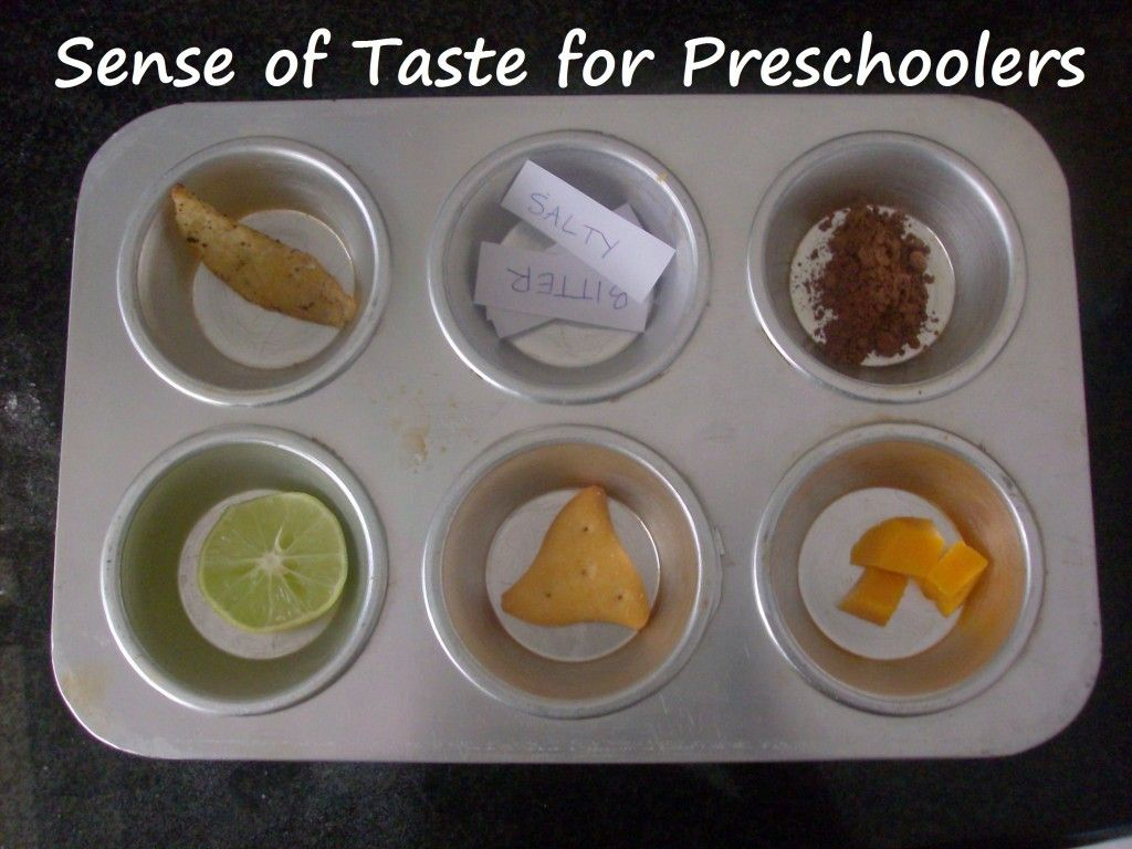 Sense Of Taste Activity For Preschoolers Mommysavers