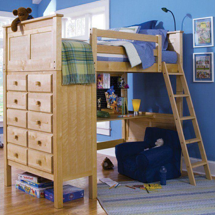 hochbett mit schreibtisch funktionale betten finden ihren richtigen platz im kinderzimmer. Black Bedroom Furniture Sets. Home Design Ideas
