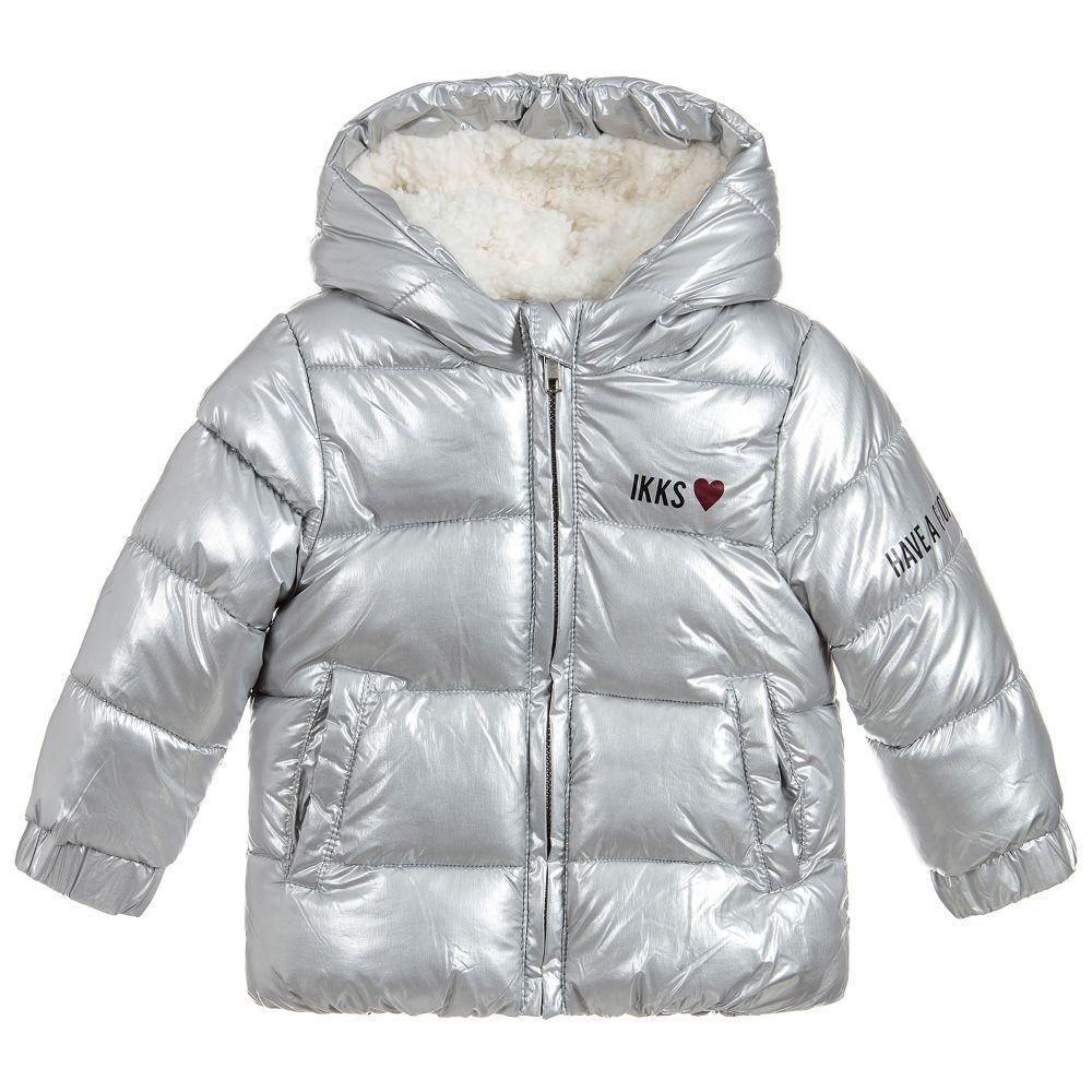 7f35e7c16 Girls Silver Puffer Jacket