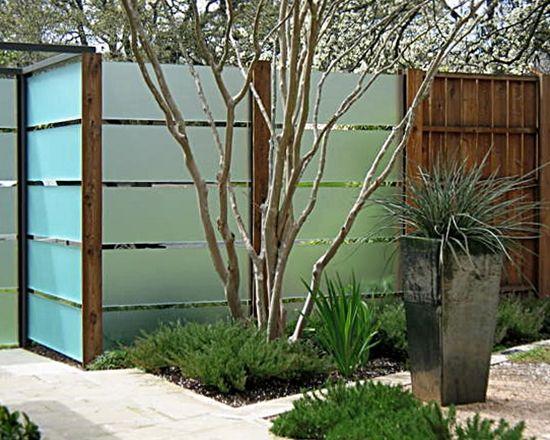Exterior Fascinating Plexiglass Fence Decorating Ideas