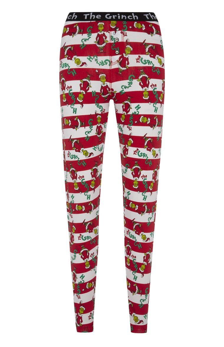 Christmas Pajamas. Christmas Day Outfit. Primark - The Grinch Candy Stripe  PJ Leggings Christmas Pjs 880a151c2