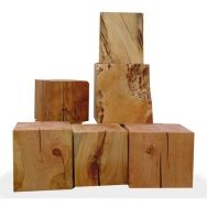 Reclaimed Wood Cubes Could Be Used As Side Tables Or