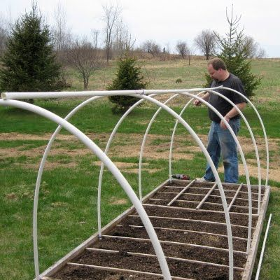 Starting A Winter Garden This Site Has Step By Step Diy Instructions For Pvc Hoop House For A Winter Ga Garden Planning Greenhouse Plans Square Foot Gardening