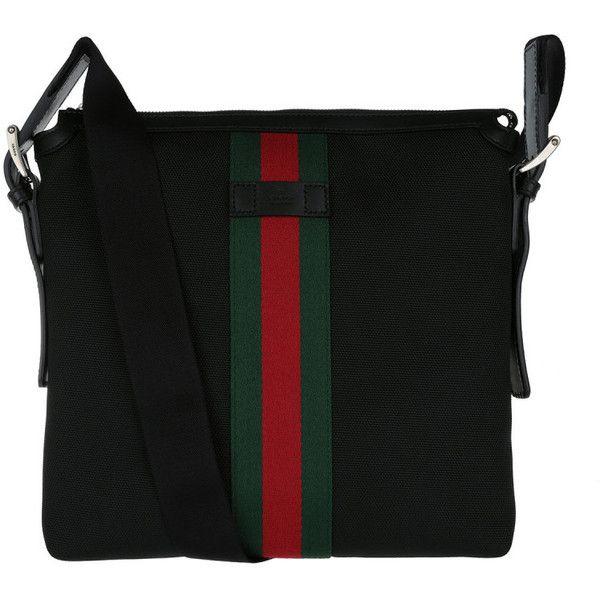 6b1e2e71186a Gucci Shoulder Bag - Web Small Messenger Bag Black - in red, green ...