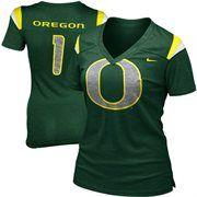Nike Oregon Ducks Women's Replica Football Premium T-Shirt - Green