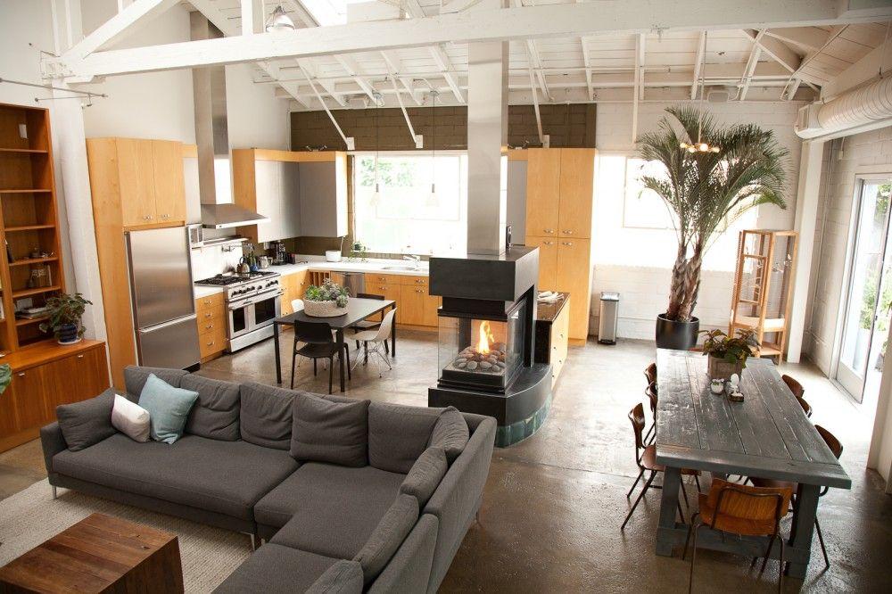 Lauren geremia interview and home photos espacios for Cocina salon espacio abierto