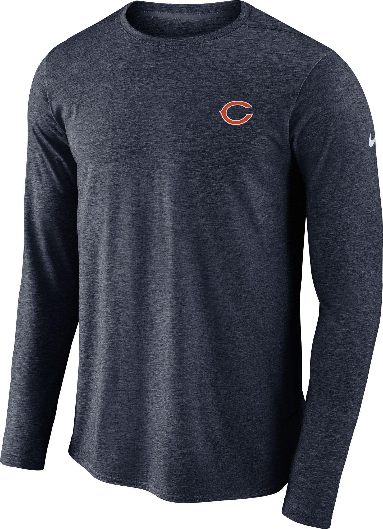 1803c6296812 Nike Men s Chicago Sideline Coaches Performance Navy Long Sleeve Shirt