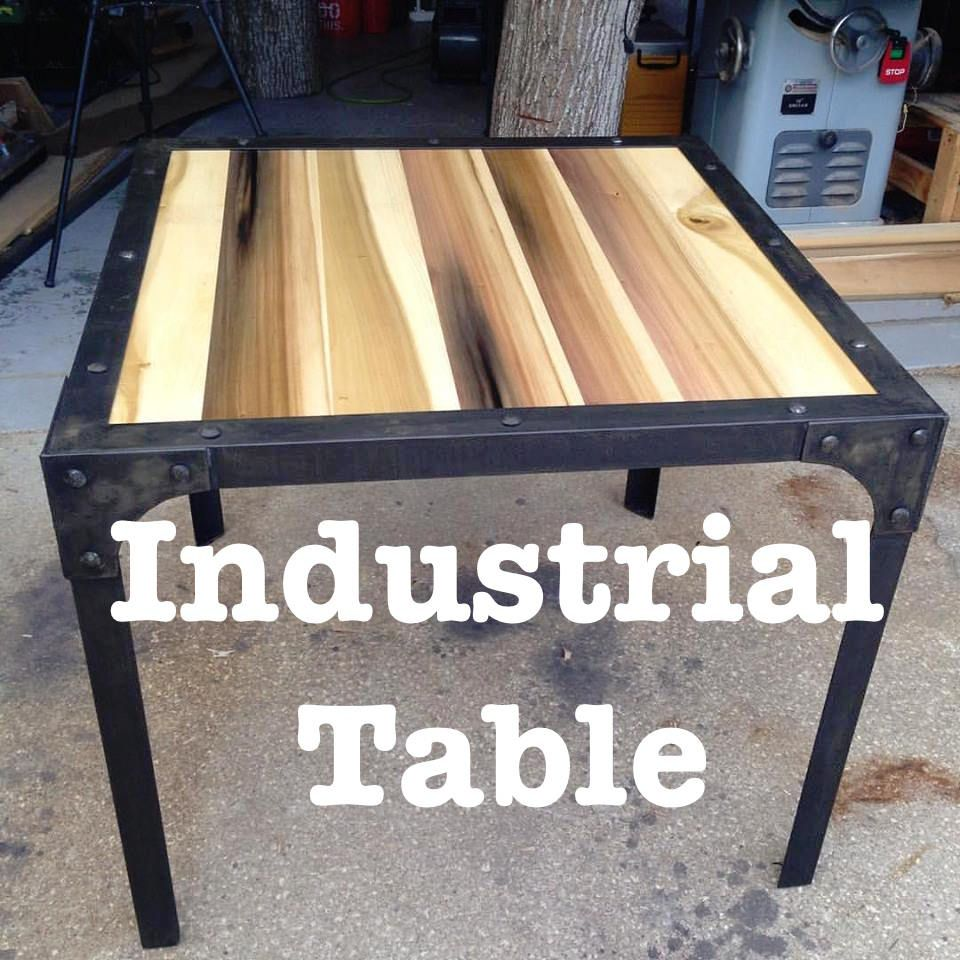 Zh fabrications industrial table zh fabrications my work building an industrial style table now with more dog howto geotapseo Choice Image