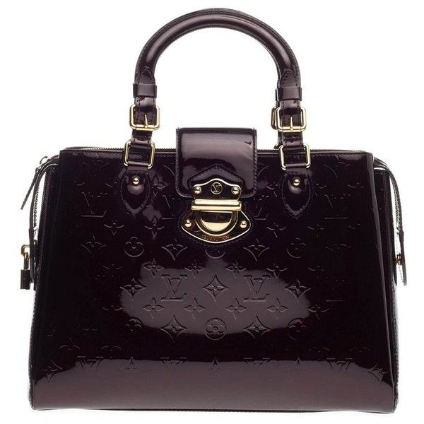 Pre-Owned Louis Vuitton Melrose Avenue Monogram Vernis (2,490 CAD) ❤ liked on Polyvore featuring bags, handbags, tote bags, purple, louis vuitton tote, monogrammed purses, tote purses, colorful tote bags and handbags totes