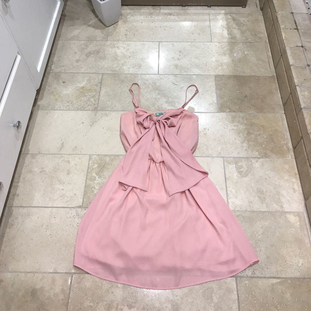 Baby Doll Pink Dress With Bow