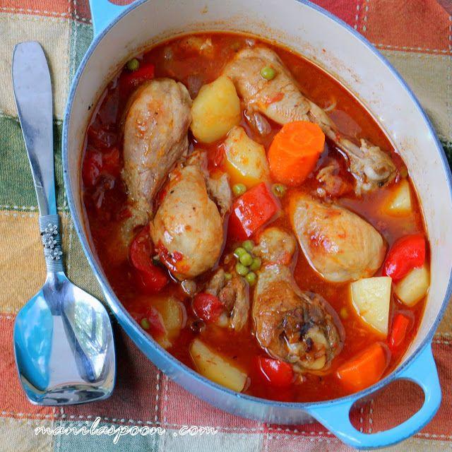 Manila Spoon Chicken Afritada Chicken Turkey Pinterest