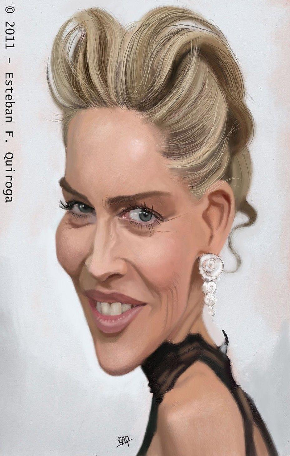 Caricatura de Sharon Stone.