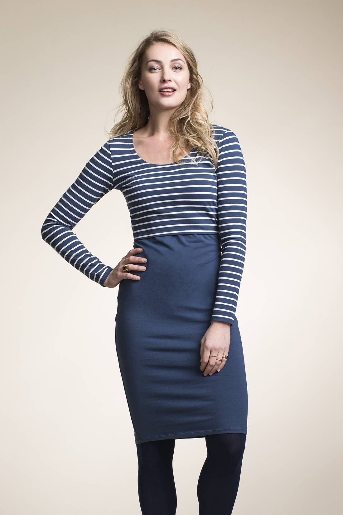 733710bc06 Boob Design Simone 50 50 Long Sleeved Nursing Dress