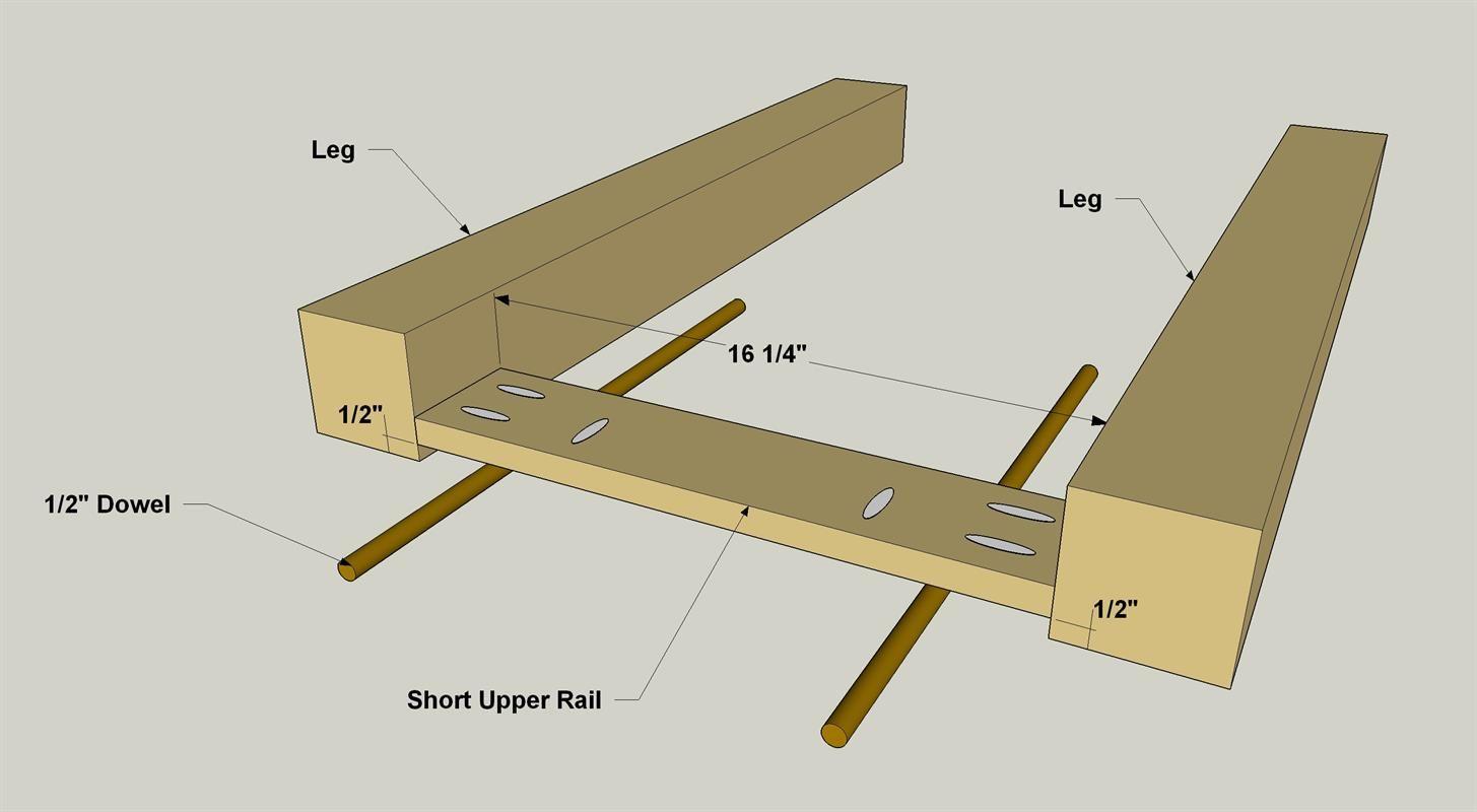 Attach Upper Short Rails to Legs