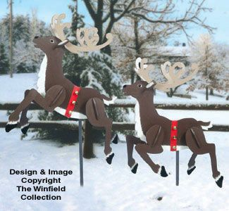 Patterns For Plywood Reindeer From The 60 S 70 S Prancing Reindeer