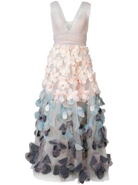 9f406d51359 MARCHESA NOTTE floral applique dress