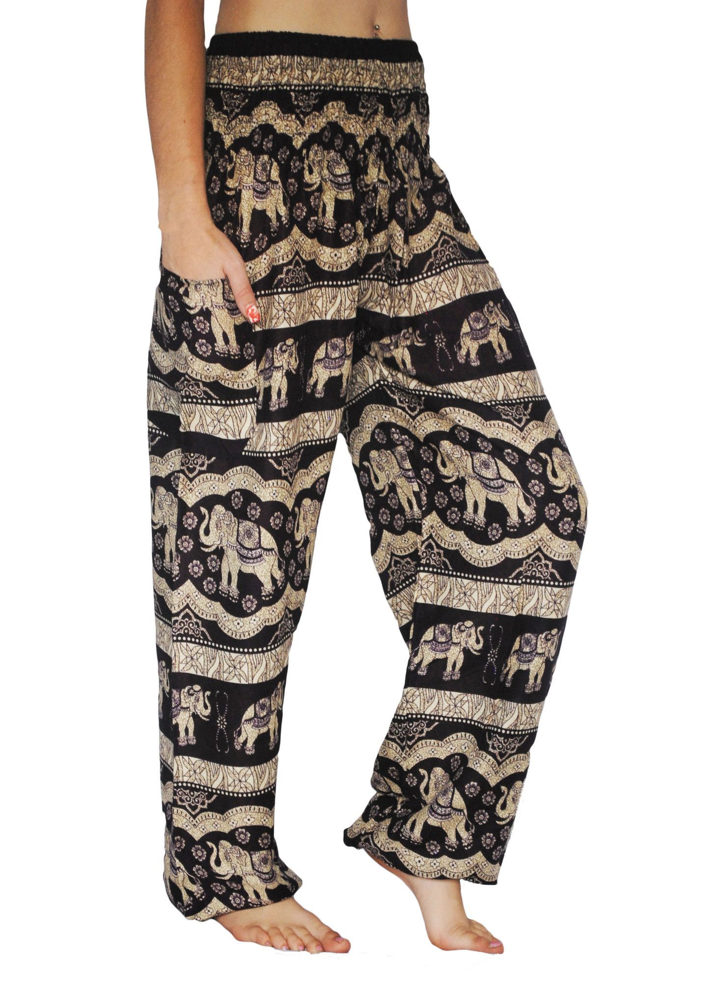 f679086cba2fa Black Elephant Harem Pants
