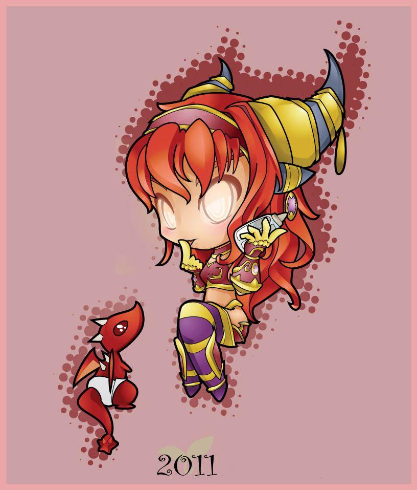 World of Warcraft-Alexstrasza-Chibi- Very Cute
