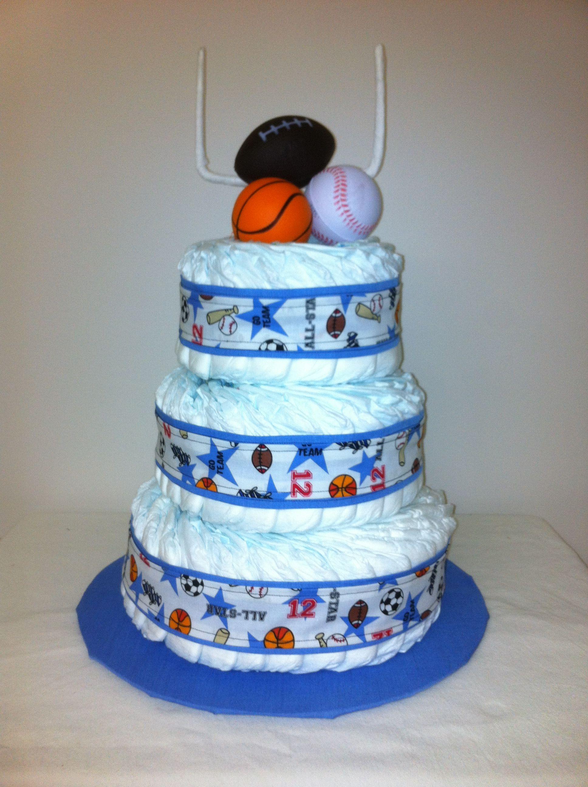 Baby Boy All Star Sports Diaper Cake