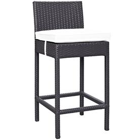 Modway Lift Rattan Plastic Stationary Bar Stool Chair S With