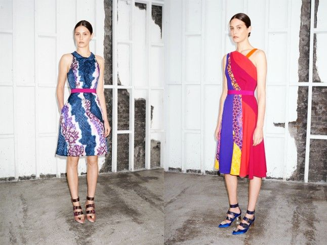 The Multi Strap Shoes At Peter Pilotto Statement, cool and even a little bit practical. These are the shoes of the (pre) season. And teamed with exactly the kind of exotic getaway dresses that the term 'resort wear' was made for.