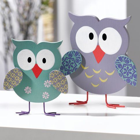 Dekofigur Eulenpaar Hildegard & Hedwig, 2-tlg.