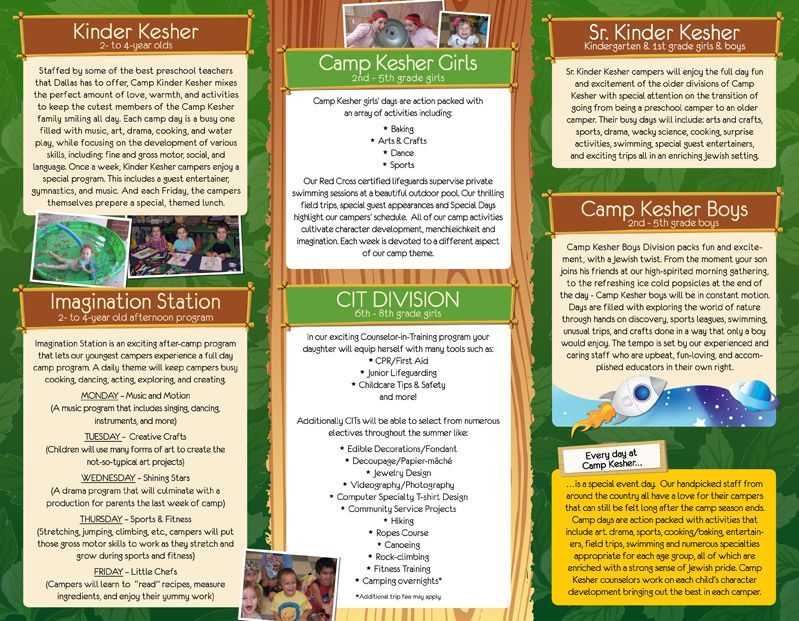 Camp Kesher Kids Brochure Inside File  Aish Connections Marketing