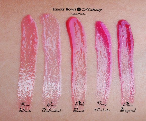 Oriflame The One Colour Unlimited Lip Gloss Swatches Shades Review