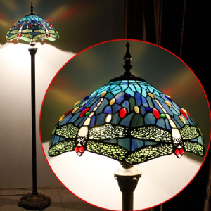 Blue Dragonfly Tiffany Floor Lamp The
