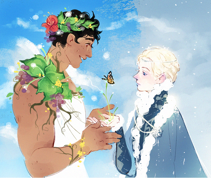 the prince of summer and the prince of winter, and spring where they meet