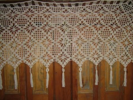 Cenefas en crochet para cortinas imagui ideas para el for Cenefas para cortinas