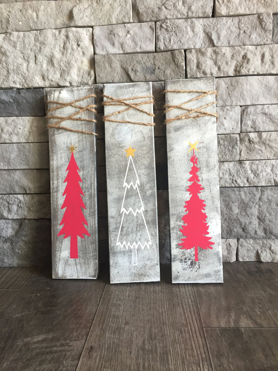 Christmas Tree Signs (Set of 3)