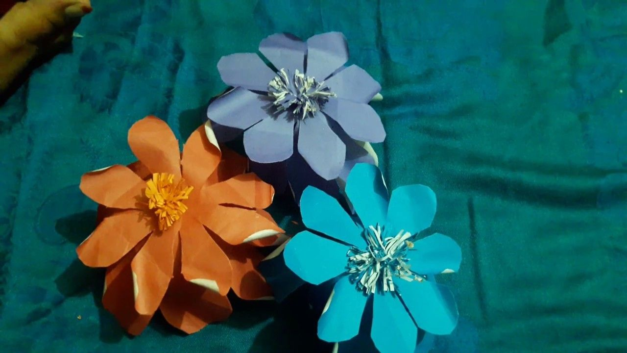 How To Make A Flower With Paperkagojer Full Design Pinterest
