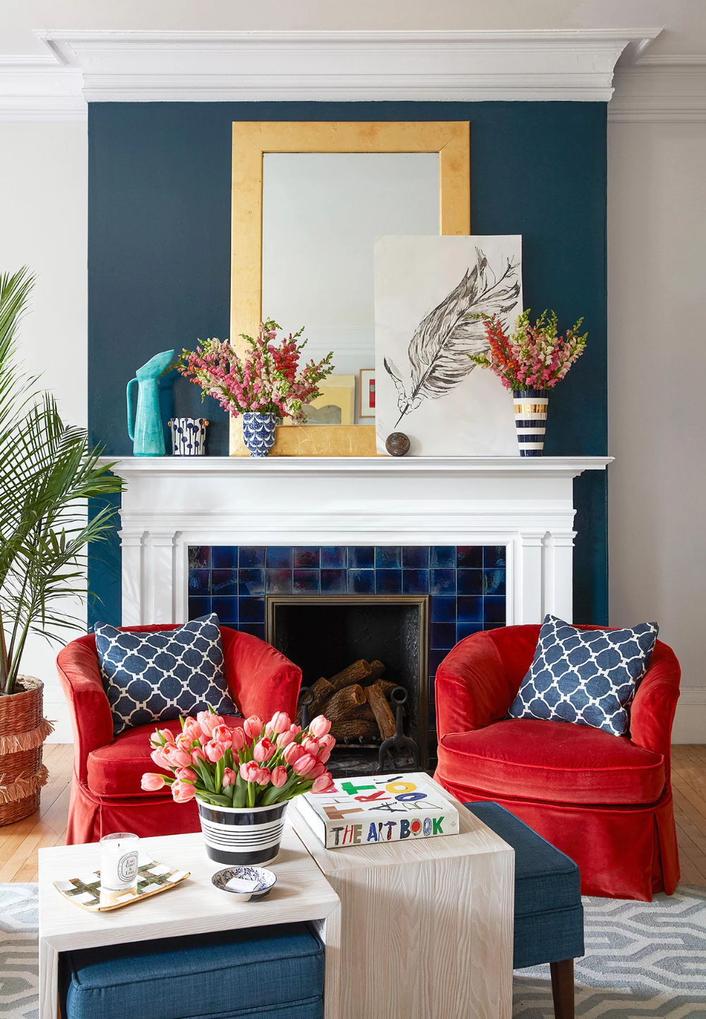 What Colors Go With Red 20 Knockout Combinations To Consider Colors Combinations Knoc Red Living Room Decor Colourful Living Room Blue Living Room Decor