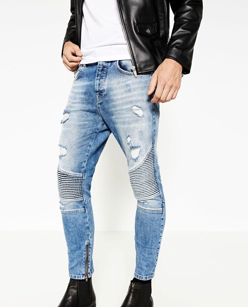 180ef87fcadf Image 2 of SKINNY BIKER JEANS from Zara   Zara   Biker jeans, Jeans ...