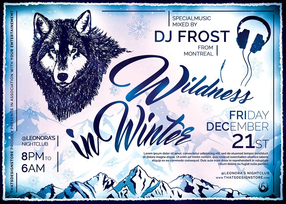 Wildness In Winter Flyer Template  Flyer Template