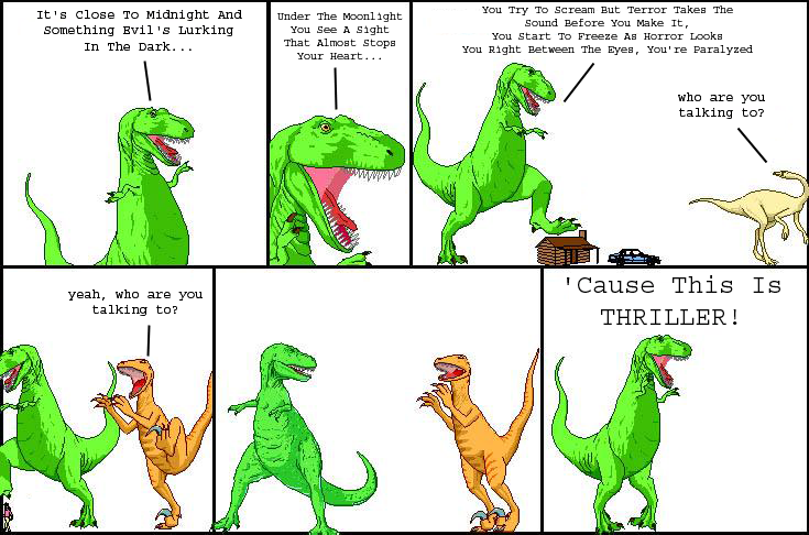 Dinosaur Thriller Comic