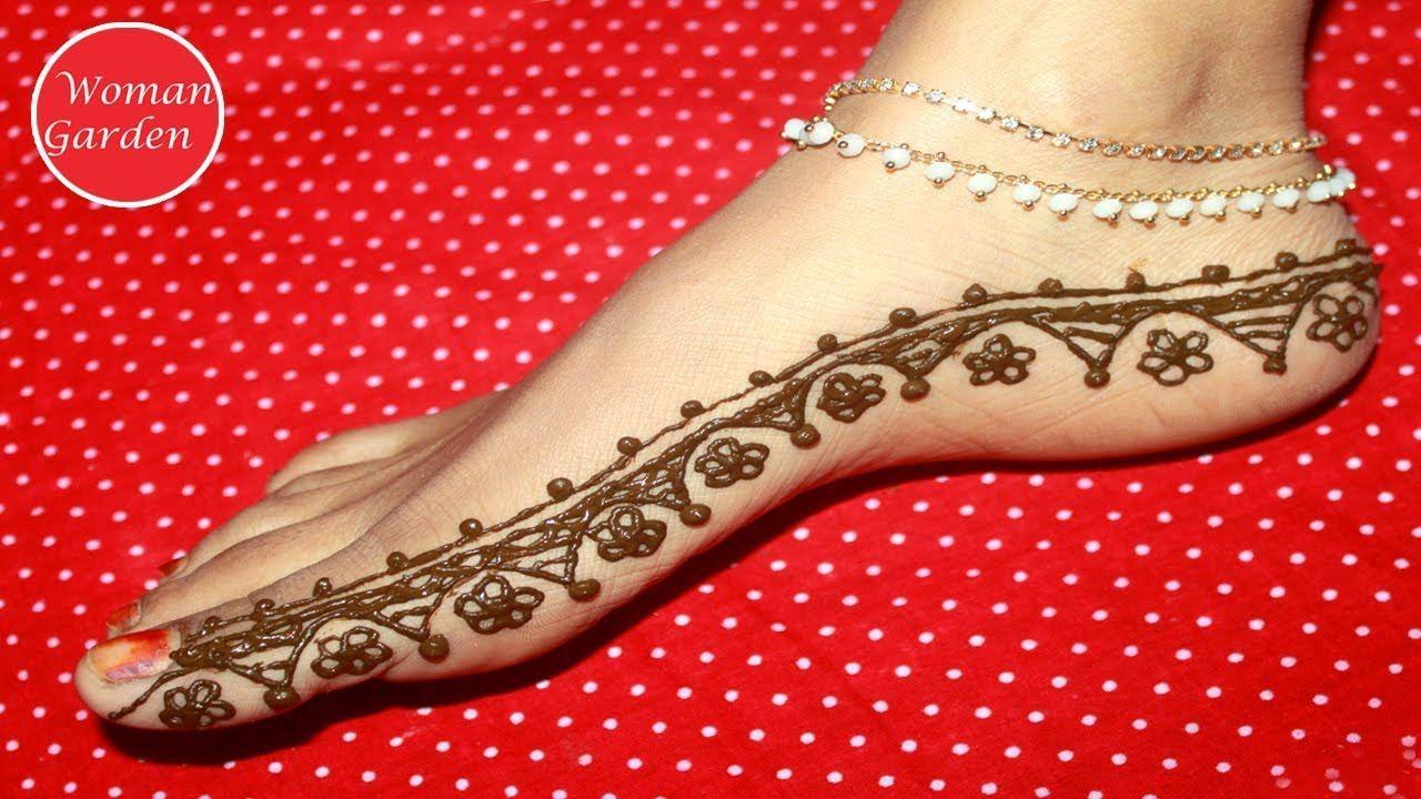 Easy Mehndi Design For Leg Super Easy And Fast Mehndi Design For